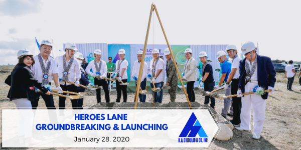 Heroes Lane Groundbreaking & Launching